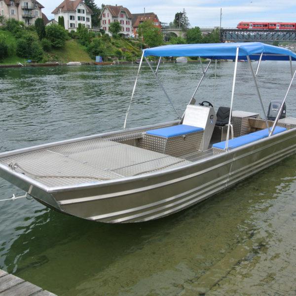 Steinhuber Boot Aluminium mit Dach